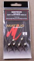 Sz. #2 Fishing Hook 1 Pack Of 6 MATZUO Walleye Soft Glow Bead Snells