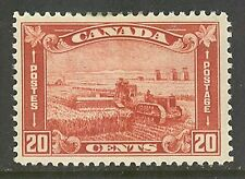 Canada #175, 1930 20c Harvesting Wheat, Unused Hinge Remnant