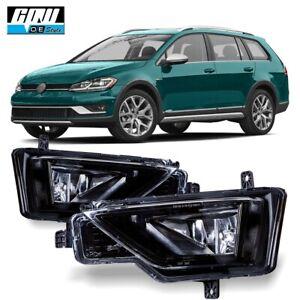 Fits For 17-18 Volkswagen Golf Alltrack Bumper Fog Lights Lamps Clear Lens PAIR