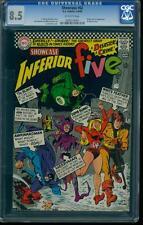 Showcase 62 CGC 8.5 Silver Age Key DC Comic First Inferior Five Parody! L@@K