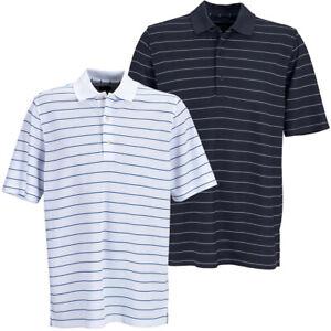 Greg Norman Golf Men's Play Dry Performance Stripe Mesh Polo Shirt NEW