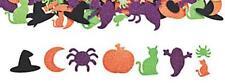 25 Glitter Halloween  Foam Stickers Self-adhesive Shapes Spider Bat Pumpkin