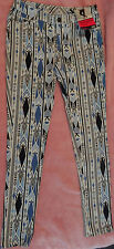 Ladies Jeans Blue, Black, Navy & White Patterned Skinny Jeans BNWT SIze 10