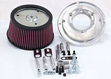 R&R Cycles High Flow Air Cleaner For Harley Davidson W/ 62MM HPI TB (Non TBW)