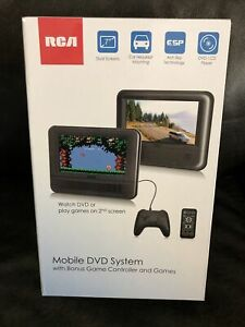 """RCA 7"""" Mobile DVD System W/Dual Screens-Bonus Game Controller-Games-NEW IN BOX"""