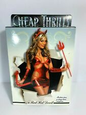 Sexy Women's Lingerie Red Hot Devil Costume Size S/M - Cheap Thrills Lingerie