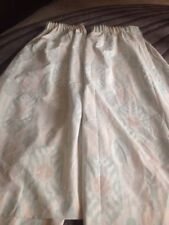 VINTAGE ST MICHEAL MARKS AND SPENCER CURTAINS 85 X53 Drop Pastel Green Beige