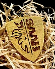 Saab keychain - Brass | Titanium | Steel | Blued (handmade, birthday gift)