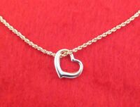 """14 KT GOLD EP 18"""" 1.4MM ROPE CHAIN NECKLACE  WITH FLOATING HEART"""