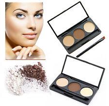 LyDia Eye Brow Powder Palette Cosmetic Makeup Shading Kit with Brush & Mirror