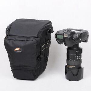 Camera Bag for DSLR w/Battery Grip + Telephoto Lens Canon 1DX 5D Nikon D4 D850