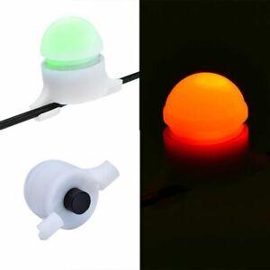 2 x Night Fishing Strike Alert Rod Tip Clip on LED Bite Alert Steady Green Light