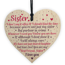 Thank You Best Friend Sister Gifts Heart Christmas Friendship Gift Birthday Sign