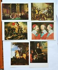 6 art postcards of paintings from National Gallery, Louvre, NPG