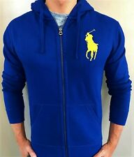 New NWT Mens Ralph Lauren Polo Big Pony Fleece Hoody Hooded Jacket XL