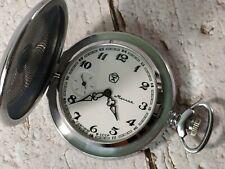 Vintage mechanical Pocket watch Molnija USSR 18 jewels 3602