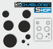 Airbrush Schablonen Kreise - wiederverwendbar - 1205