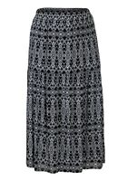 New Women's Tiered Gypsy Elasticated Waist Lined Maxi Skirt Size 16
