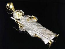 """10K Yellow Gold Genuine Diamond Shepherd Style Jesus Piece Pendant 3.75"""" (6.5Ct)"""