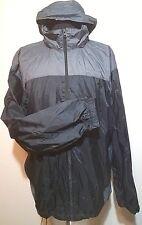 Men's * COLUMBIA Waterproof 100% NYLON Hideaway Hooded Rain JACKET - SIZE XXL