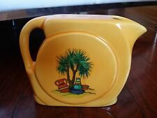 RARE Vintage HAEGER POTTERY YELLOW ART DECO WATER JUG PITCHER TREE POTS
