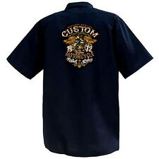 Highest Quality Custom Motorcycles - Mechanics Graphic Work Shirt  Short Sleeve