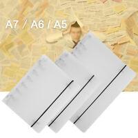 PP Cover for Notebook File Folder 6Holes Ring Binder Spirals A4 A5 A7RefillFBDU