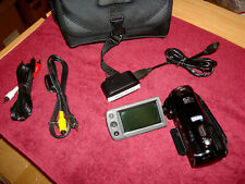 Samsung Hmx-F80 Camcorder w/ Case, Battery, Rca Video Cords, Usb Cord & Charger