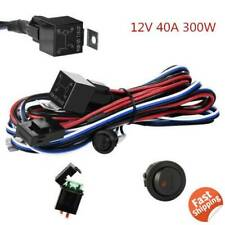 120W~300W Wiring Harness Switch Relay Kit for Truck LED Fog Pod Work Light Bar