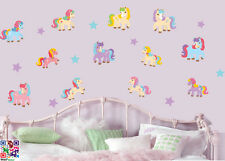 Ponies and Stars - Pack of 20 - Wall Art Vinyl Stickers Horses Pony Mural Decals