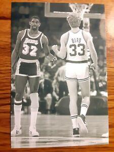 Magic Johnson Lakers Larry Bird Celtics Basketball 4x6 Photo Picture Card