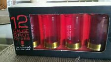 12 gauge shot glasses in box, includes four shot glasses