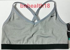 Nike Pro Indy Light Support Sports Bra Training Exercise Gray Black Size Xl Nwt