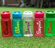 Personalised Custom Disney Name Kids Children Water Bottle Flip Straw Girls Boys