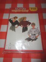 Burda 7111 - Schnittmuster - Sweatshirt Bluse Gr. 34-48 - neu / verschweisst