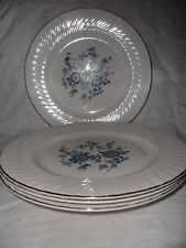 Vintage Wedgewood & Co. Royal Blue Ironstone Dinner Plates Set Of 4