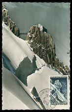 France MK 1958 Midi téléphérique ropeway maximum Carte CARTE MAXIMUM CARD MC cm cc02