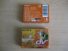 2 x Sony Premium mini dv (Digital Video) SP 60-LP:90 - (DVM60PR3)