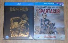 Ben Hur & Spartacus (2 blu-rays) Steelbook. NEW & SEALED. Zavvi