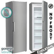 Gefrierschrank NoFrost Stand Edelstahl Eisschrank Tiefkühlschrank 185 cm Gorenje