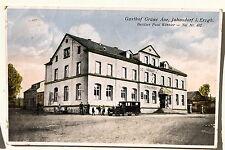 19404 AK Jahnsdorf im Erzgebirge Gasthof Grüne Aue mit altem Auto 1930