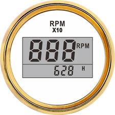 52mm Tacho Gauge Tachometer with Hour 0~9990RPM Meter Diesel Gasoline Marine Car