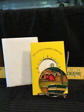 "Vintage John Deere ""Tractor & Red Barn�Sun Catcher-Nip- In Sunshine Through Card"