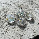 8 cuentas de vidrio multicolor lentejuelas