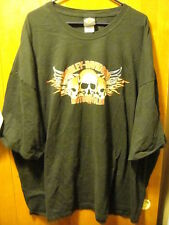 HARELY DAVIDSON Concord NC SKULLS w WINGS Double Sided 2008 T Shirt 5XL EUC