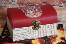 """Harry Potter inspired Gryffindor trinket box """"Aged"""" book pages"""
