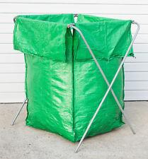 4 x Green HDPE Garden / Recycling / Bale / Rubbish / Clothing Bag