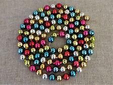 "Rare Antique Vintage Bead Garland Mercury Glass Multicolor Xlg Sz 6/8"" 79"" #11"
