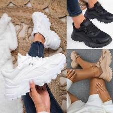 Womens Chunky Sole Trainers Lace Up Sports Party Platform Sneakers Fashion New