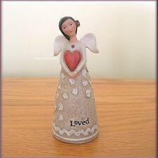 FEBRUARY BIRTHDAY WISH ANGEL FIGURE BY KELLY RAE ROBERTS FREE U.S. SHIPPING